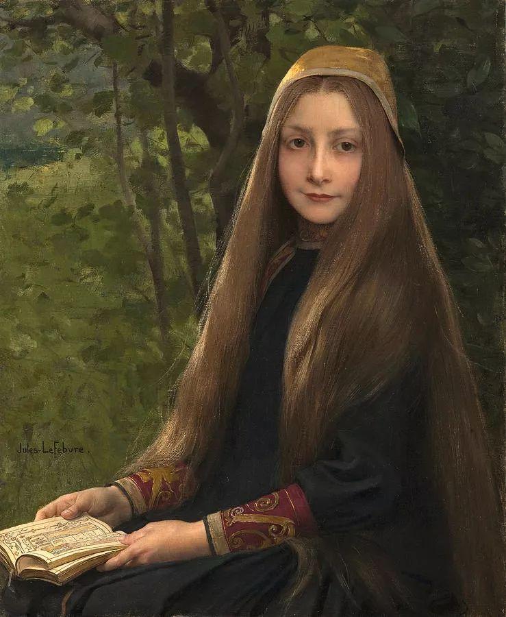 对不起,你的人像作品美到我了!法国学院派画家Jules Joseph Lefebvre插图39