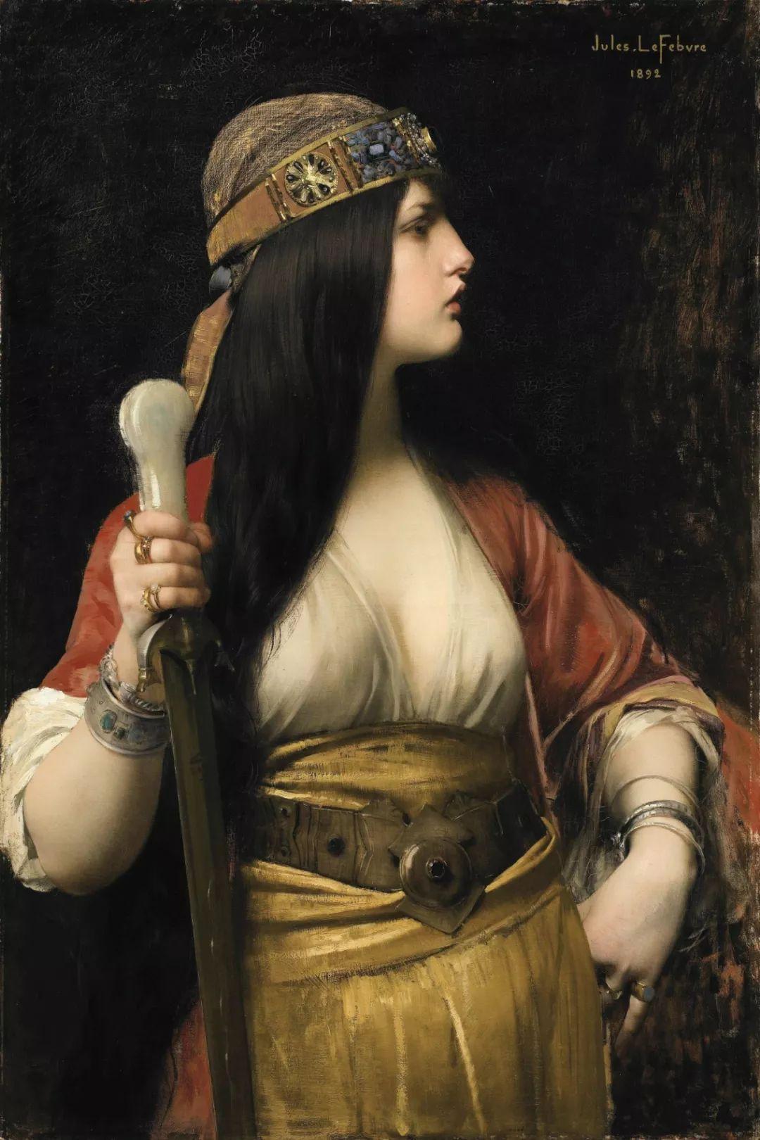 对不起,你的人像作品美到我了!法国学院派画家Jules Joseph Lefebvre插图41