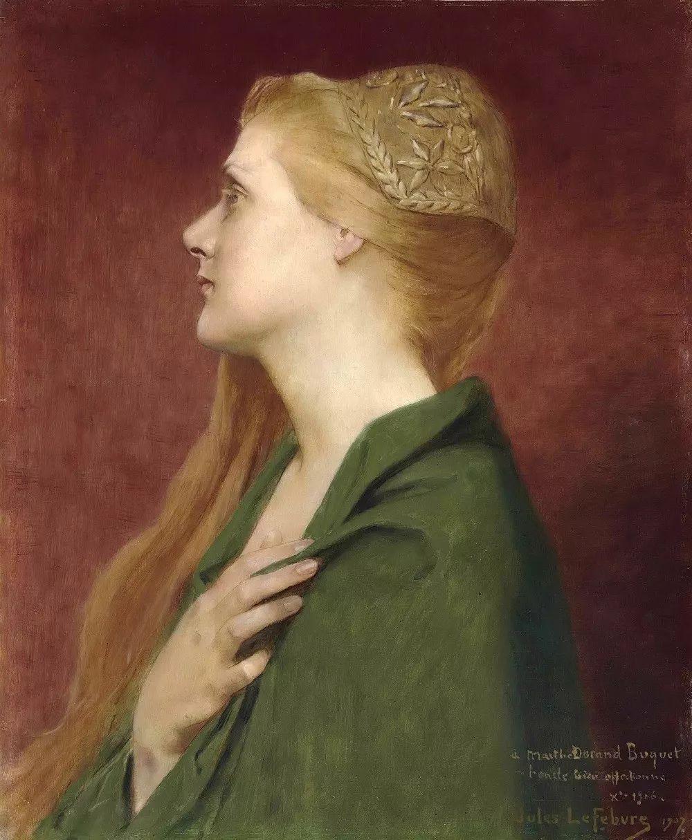 对不起,你的人像作品美到我了!法国学院派画家Jules Joseph Lefebvre插图45