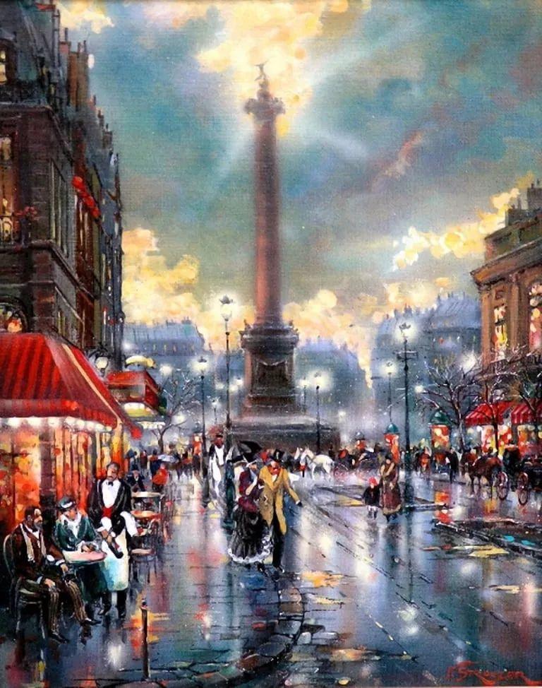 城市街景,美!俄罗斯画家Vladimir Stroozer插图4