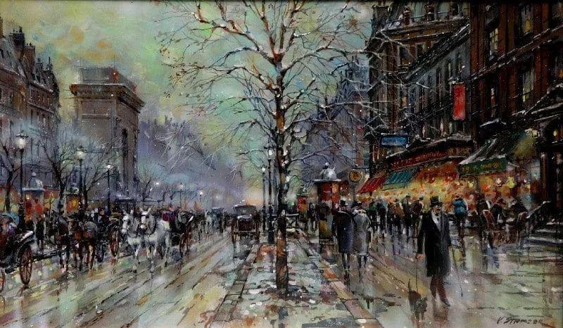 城市街景,美!俄罗斯画家Vladimir Stroozer插图6