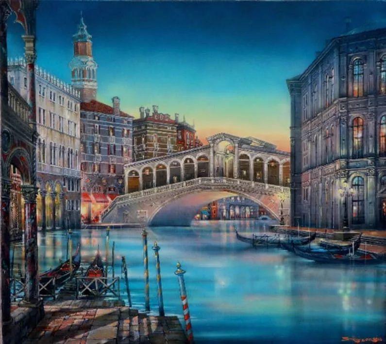城市街景,美!俄罗斯画家Vladimir Stroozer插图7