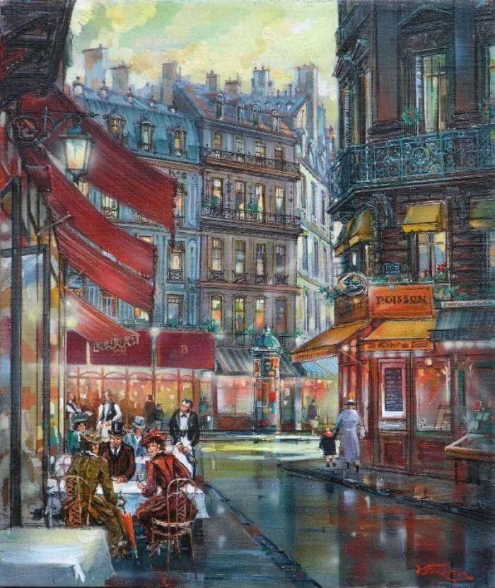 城市街景,美!俄罗斯画家Vladimir Stroozer插图10