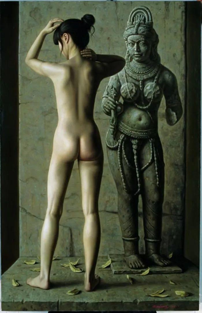 顾致农的写实人物,饱含古典绘画的神气插图27