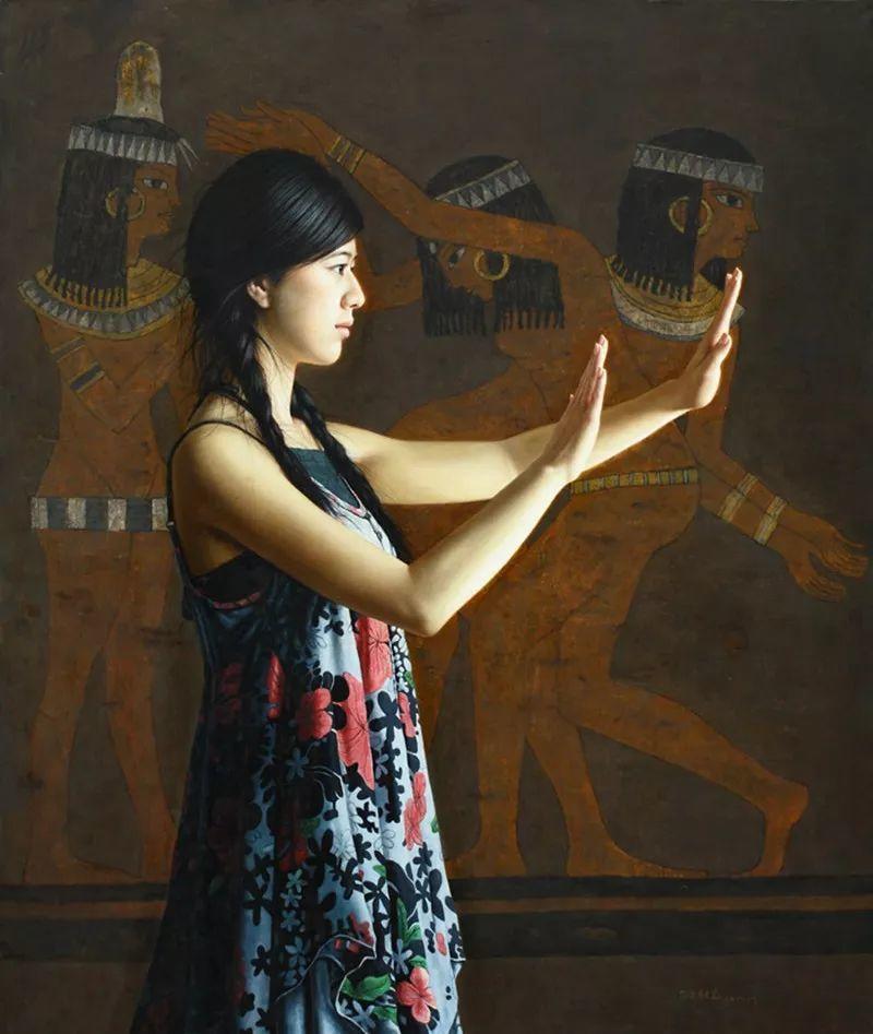 顾致农的写实人物,饱含古典绘画的神气插图36