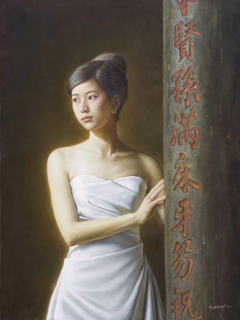 顾致农的写实人物,饱含古典绘画的神气插图37