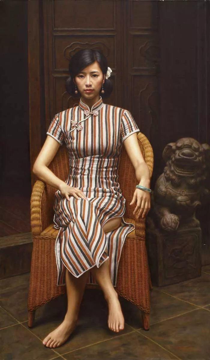 顾致农的写实人物,饱含古典绘画的神气插图38