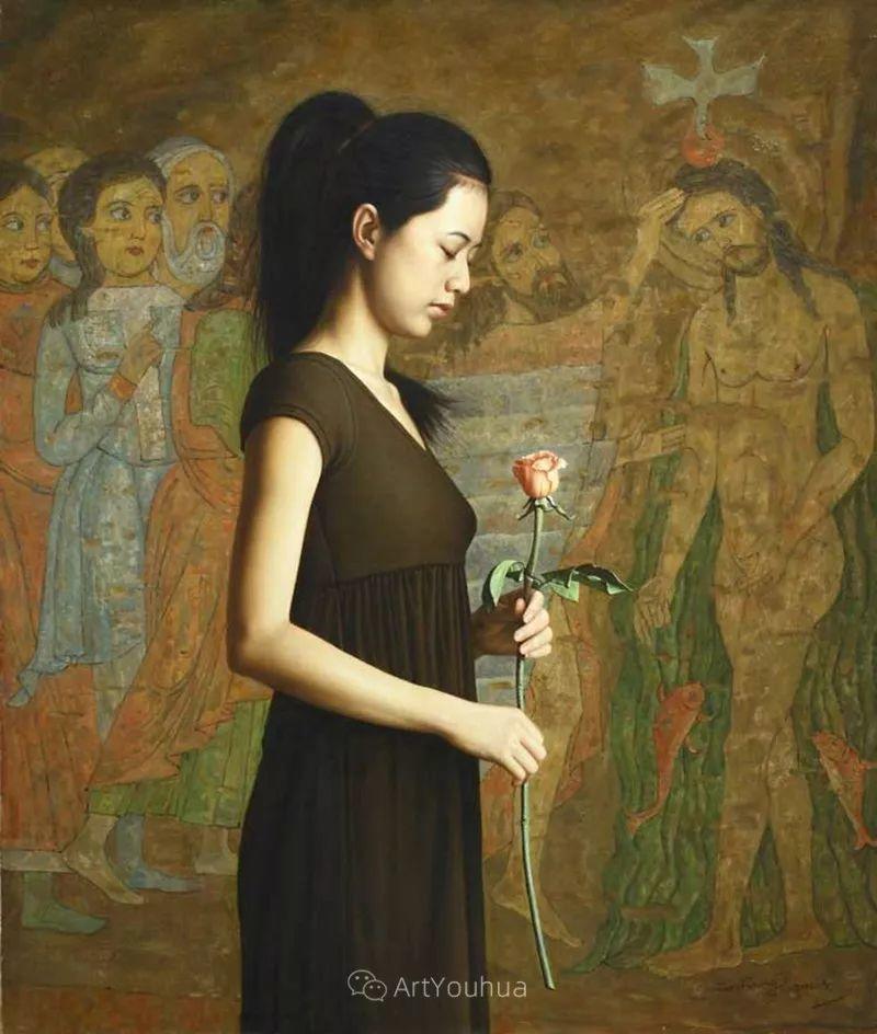 顾致农的写实人物,饱含古典绘画的神气插图40