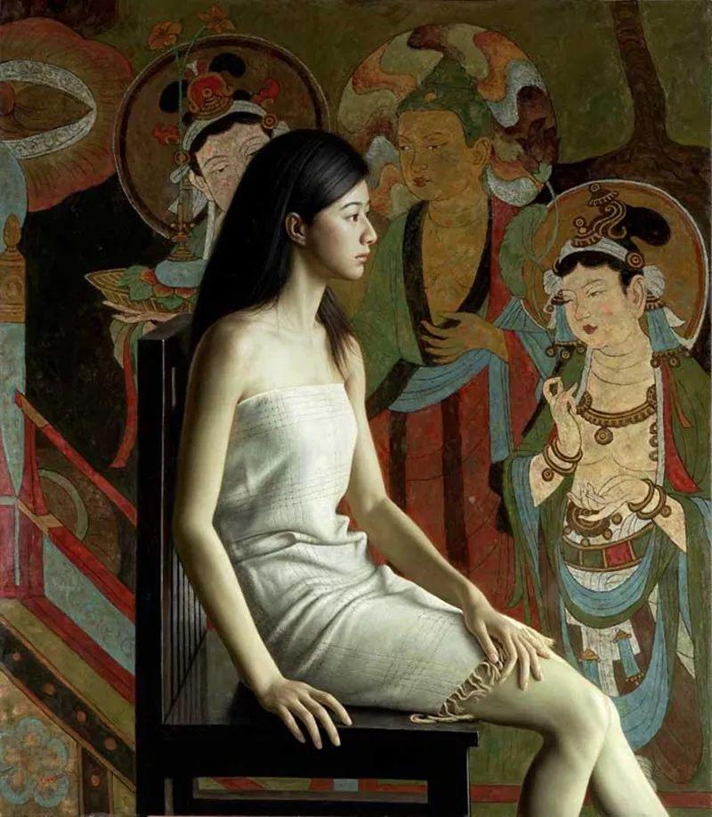 顾致农的写实人物,饱含古典绘画的神气插图43