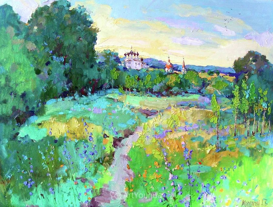 色彩丰富的风景油画,太美了!俄罗斯画家Andrey Mishagin插图17
