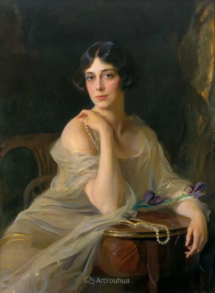 王室女性肖像,气质非凡!旅英匈牙利画家Philip Alexius de Laszlo插图1