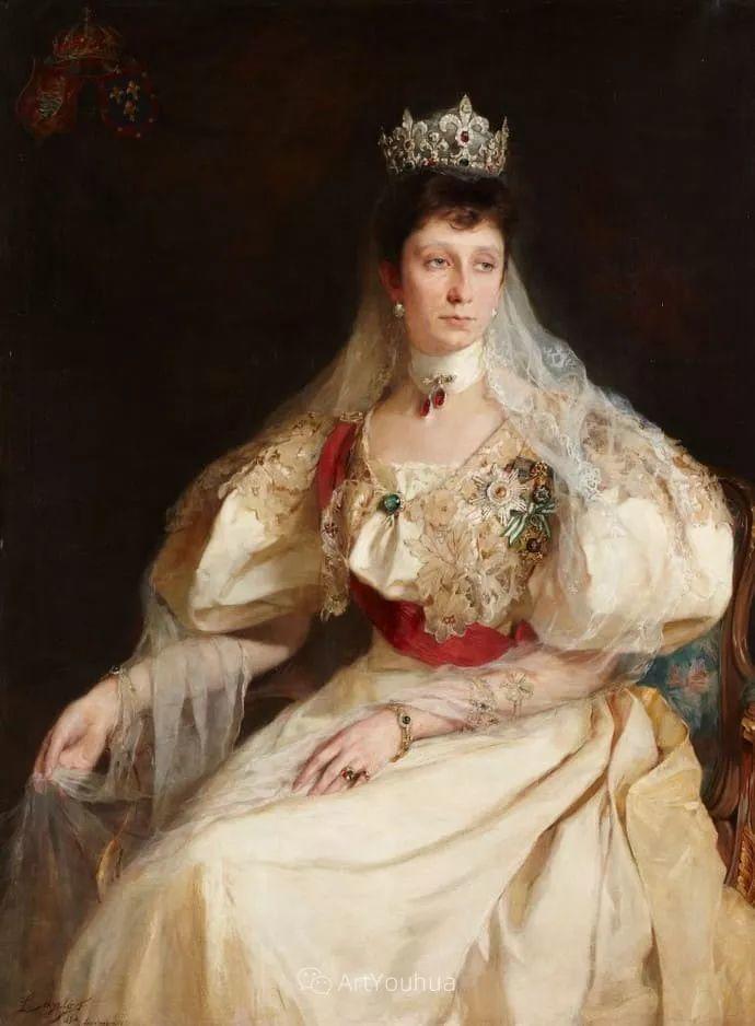 王室女性肖像,气质非凡!旅英匈牙利画家Philip Alexius de Laszlo插图6