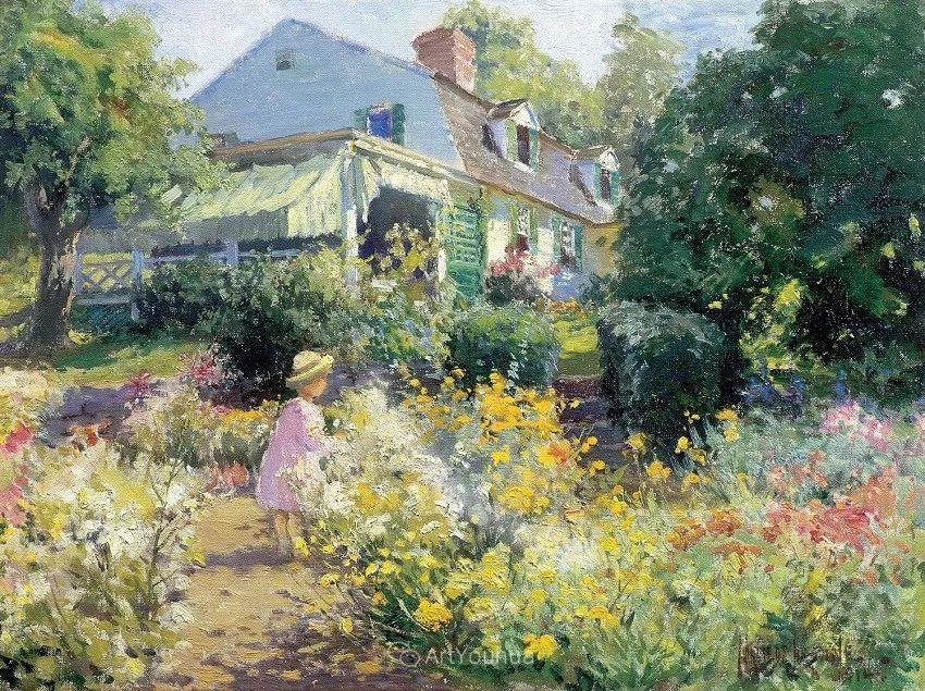 大胆的笔触,郁郁葱葱的花儿!美国印象派女画家Matilda Browne插图2
