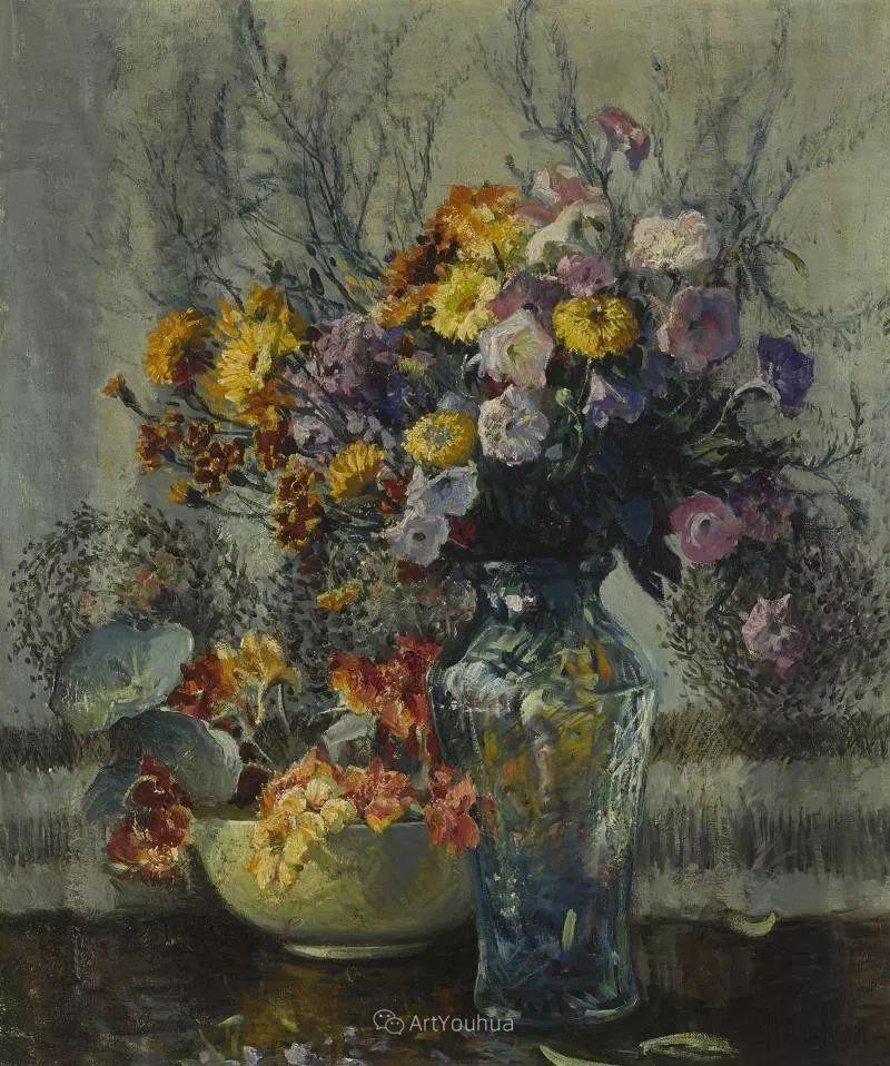 大胆的笔触,郁郁葱葱的花儿!美国印象派女画家Matilda Browne插图12