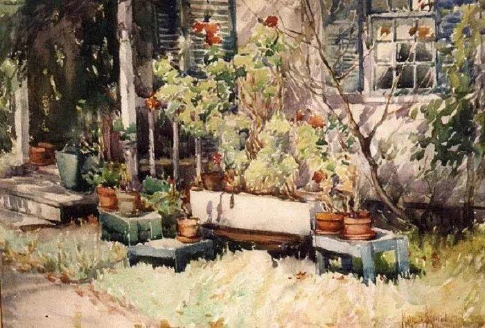 大胆的笔触,郁郁葱葱的花儿!美国印象派女画家Matilda Browne插图21