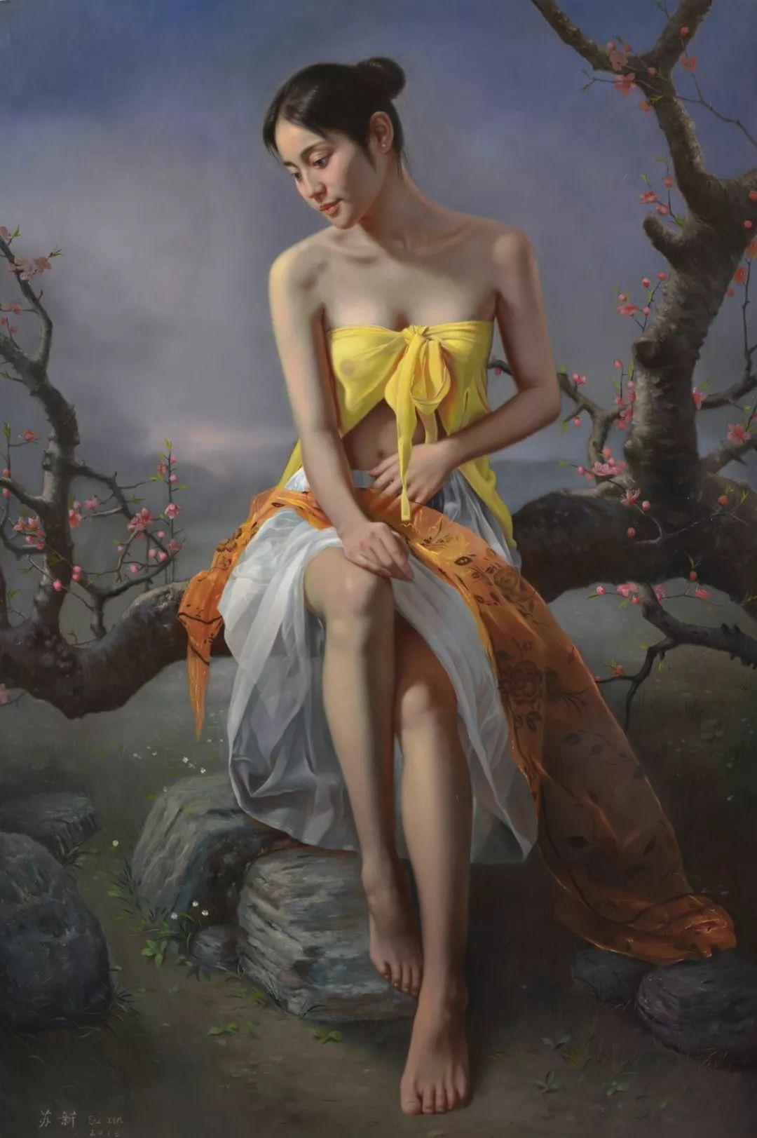 他画出绝美女子,每一幅都柔美个性,优雅自信插图