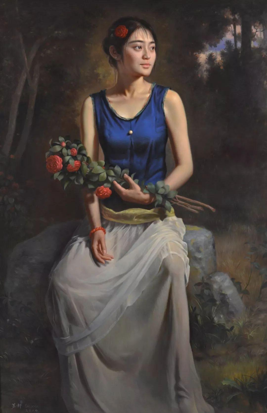 他画出绝美女子,每一幅都柔美个性,优雅自信插图4