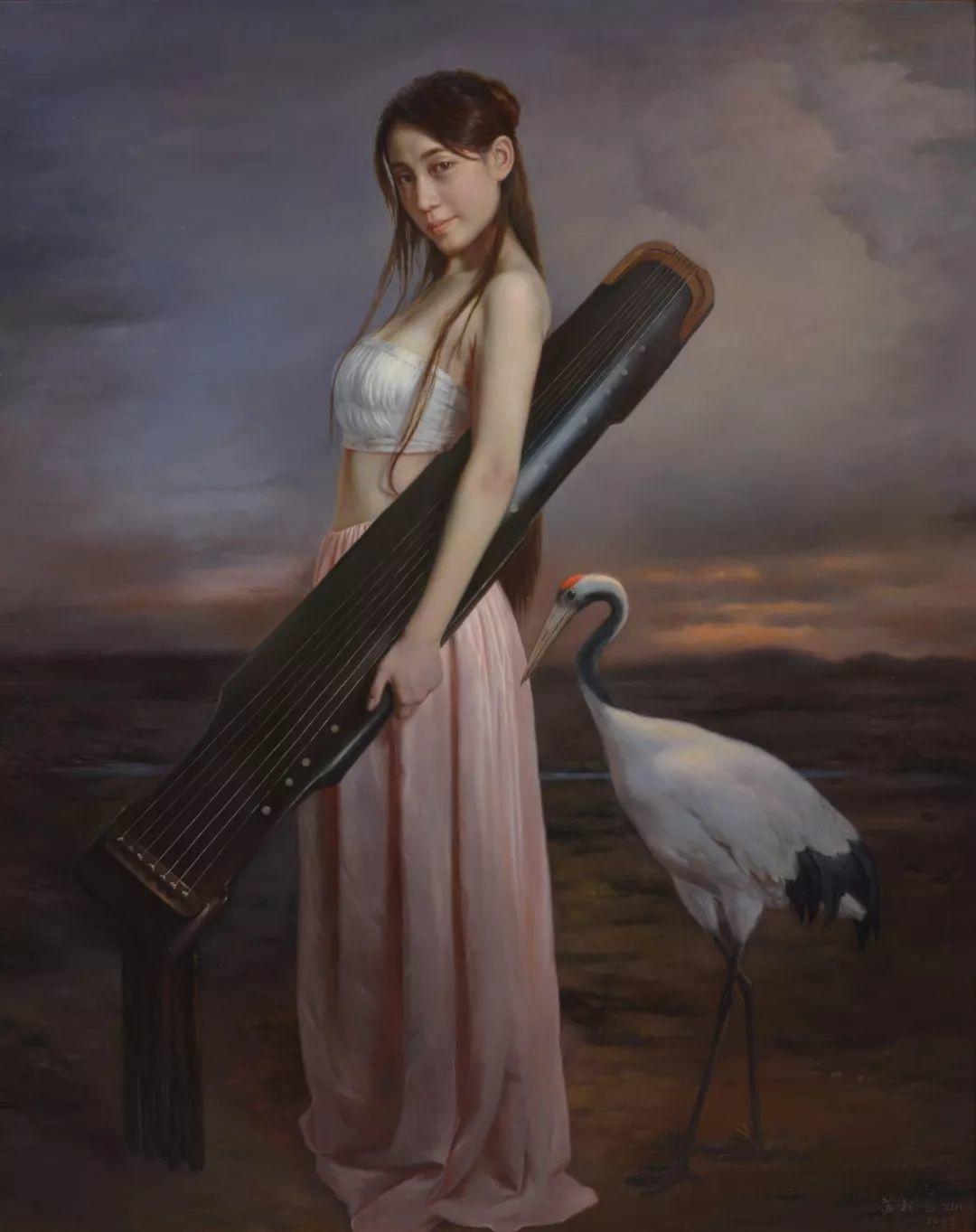 他画出绝美女子,每一幅都柔美个性,优雅自信插图7