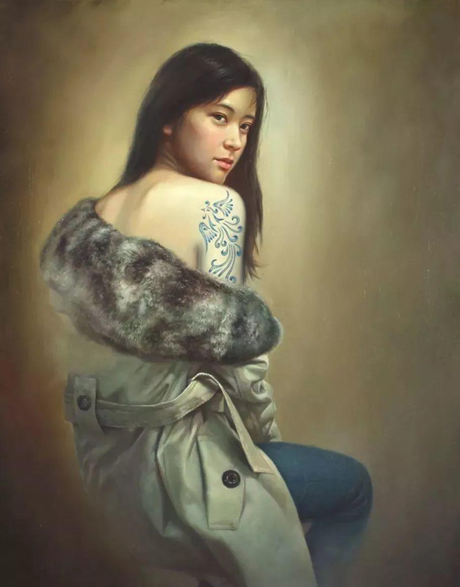 他画出绝美女子,每一幅都柔美个性,优雅自信插图18