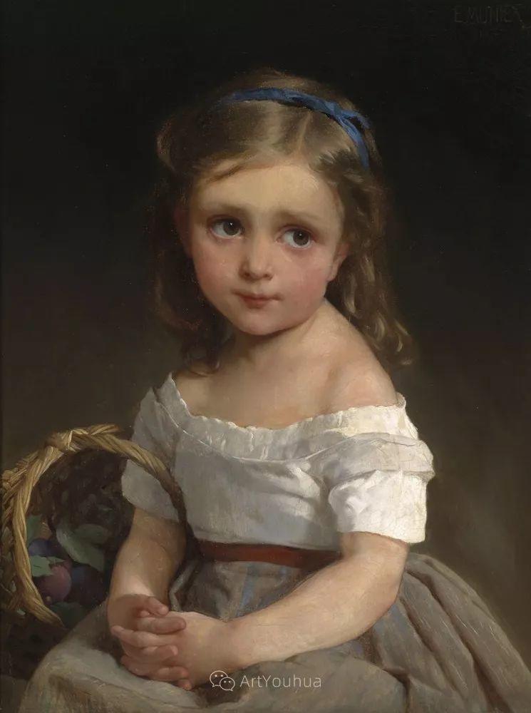 他笔下儿童、母亲形象个个可爱温馨,法国画家Emile Munier插图2