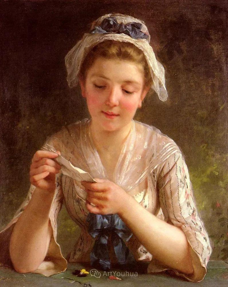 他笔下儿童、母亲形象个个可爱温馨,法国画家Emile Munier插图8