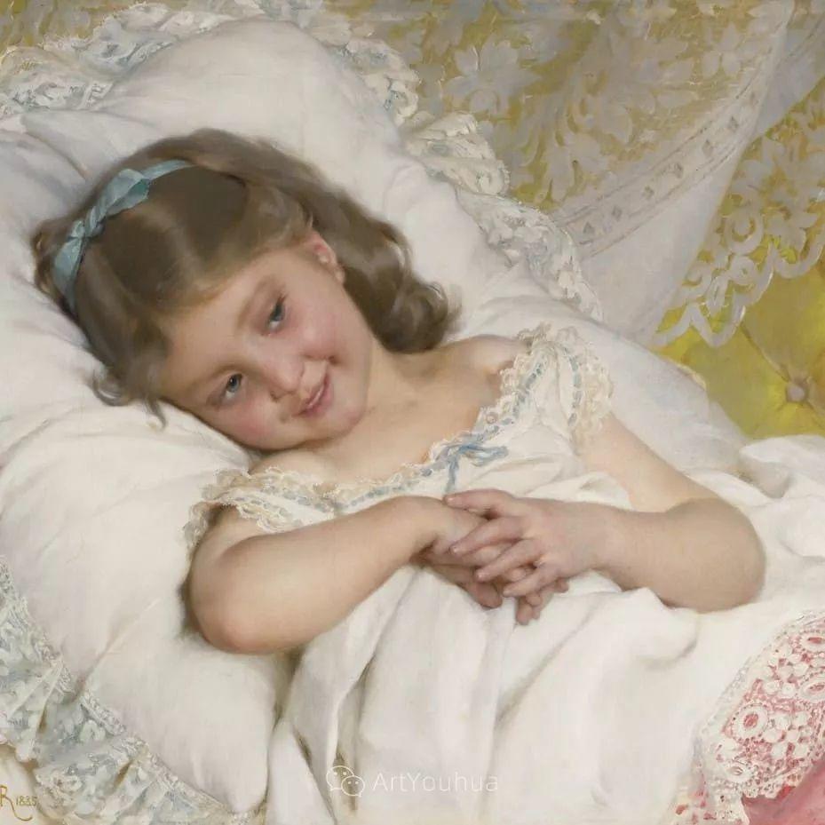 他笔下儿童、母亲形象个个可爱温馨,法国画家Emile Munier插图13