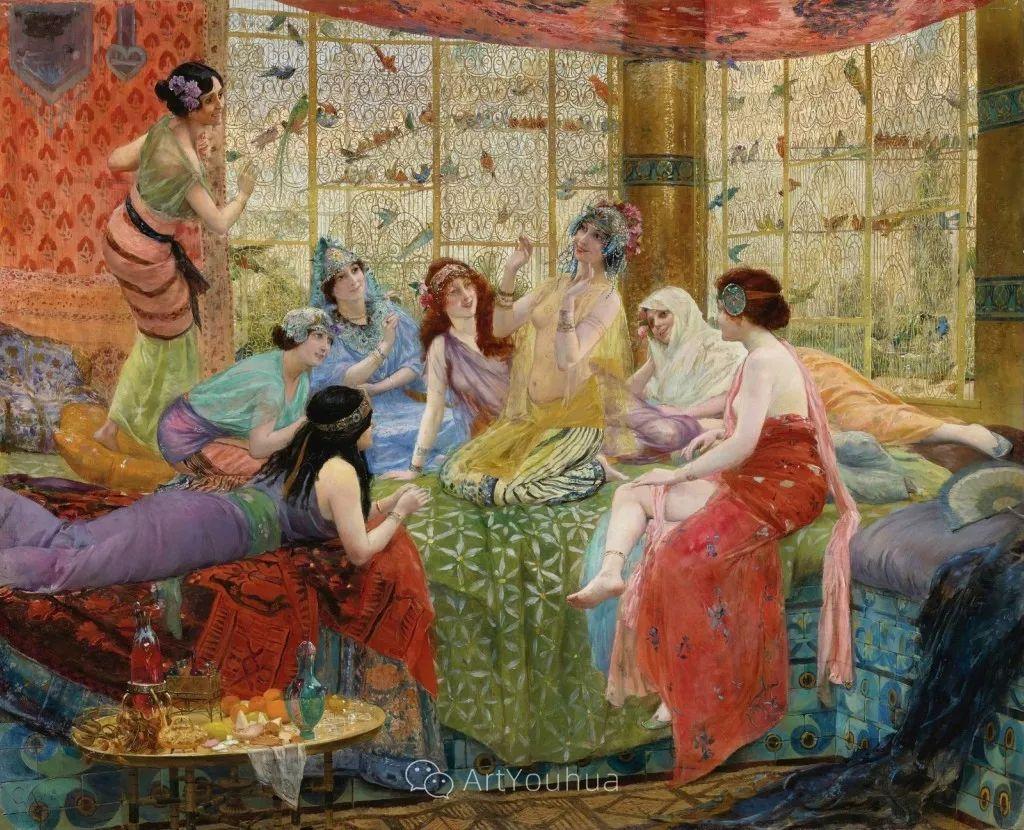 历史装饰画家,法国Georges Antoine Rochegrosse插图1
