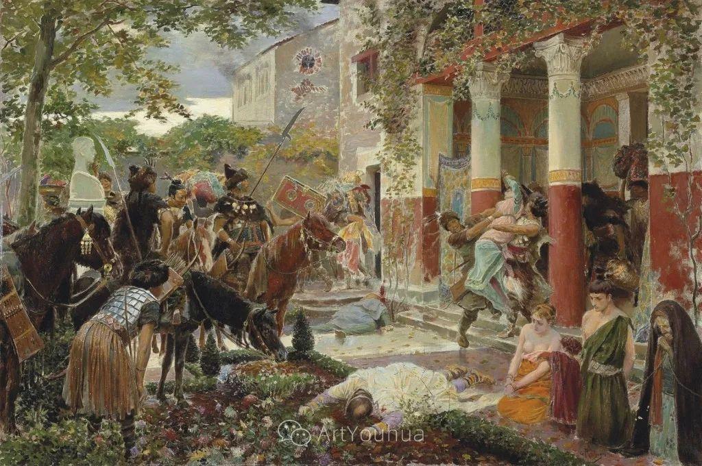 历史装饰画家,法国Georges Antoine Rochegrosse插图23