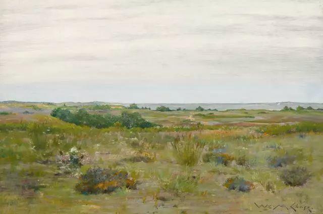 油画风景,美国画家William Merritt Chase插图1