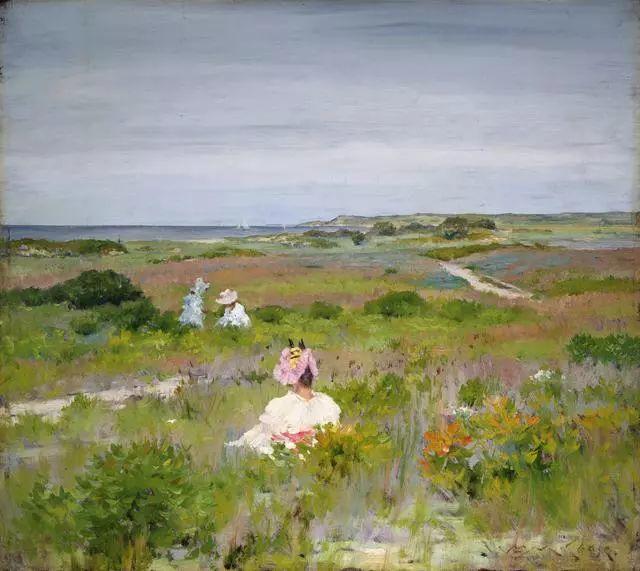 油画风景,美国画家William Merritt Chase插图5