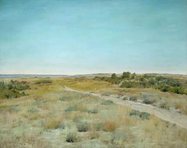 油画风景,美国画家William Merritt Chase插图7