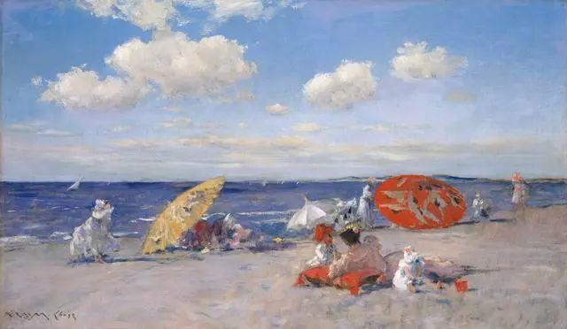 油画风景,美国画家William Merritt Chase插图9