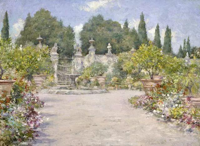 油画风景,美国画家William Merritt Chase插图15