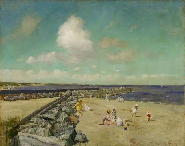油画风景,美国画家William Merritt Chase插图19