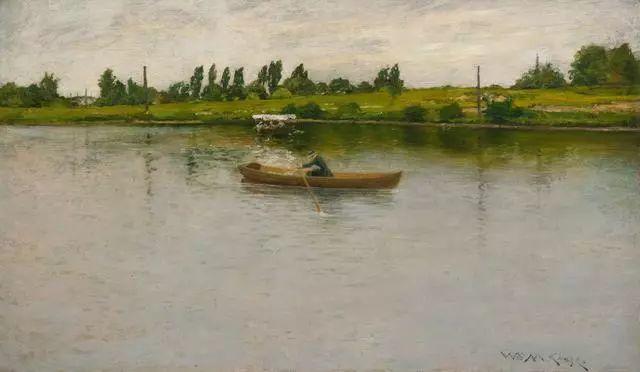 油画风景,美国画家William Merritt Chase插图21