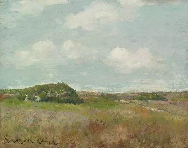 油画风景,美国画家William Merritt Chase插图23