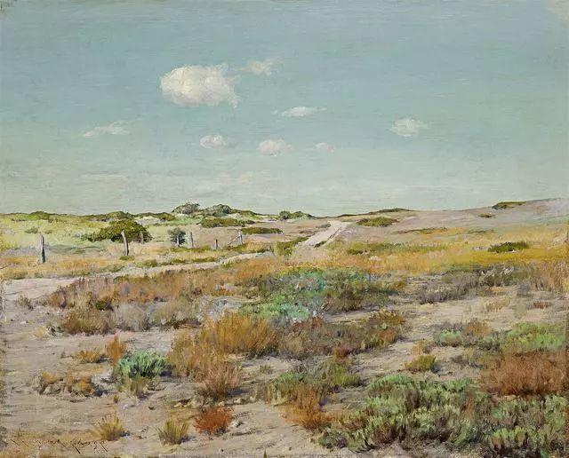 油画风景,美国画家William Merritt Chase插图25