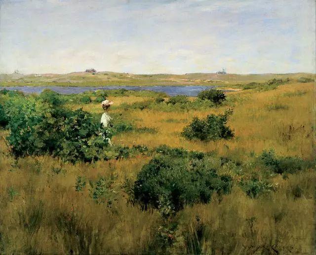 油画风景,美国画家William Merritt Chase插图27