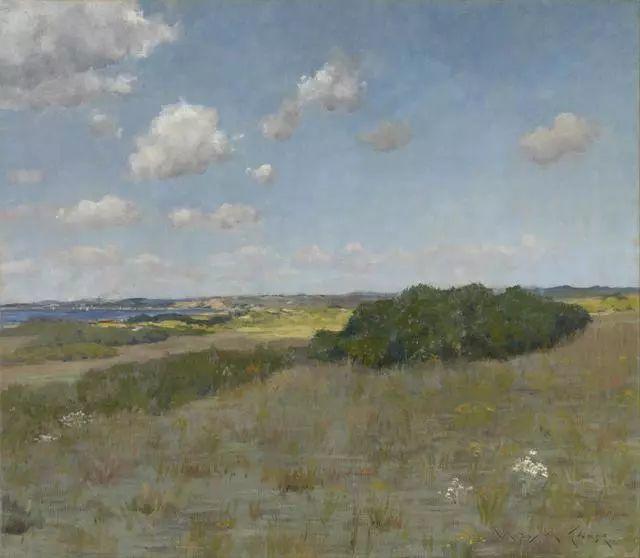 油画风景,美国画家William Merritt Chase插图29