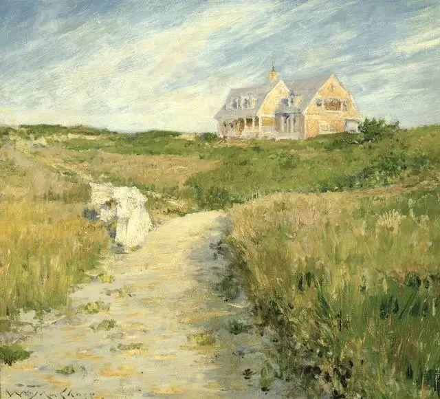 油画风景,美国画家William Merritt Chase插图31
