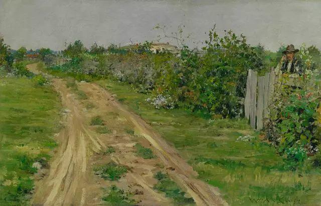 油画风景,美国画家William Merritt Chase插图33