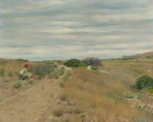 油画风景,美国画家William Merritt Chase插图35