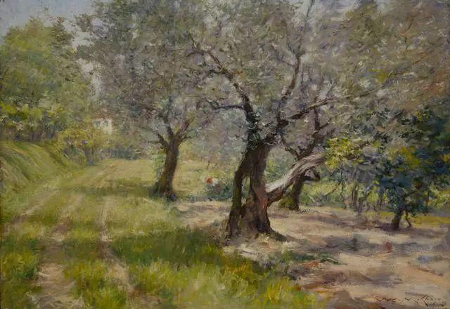 油画风景,美国画家William Merritt Chase插图37