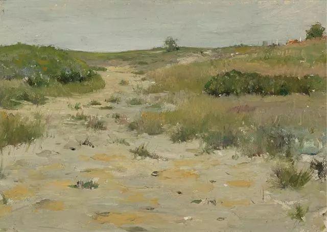 油画风景,美国画家William Merritt Chase插图39