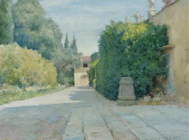 油画风景,美国画家William Merritt Chase插图41