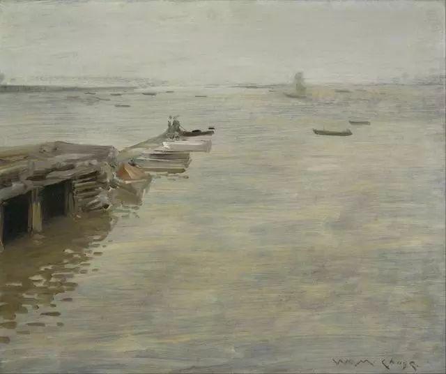 油画风景,美国画家William Merritt Chase插图43