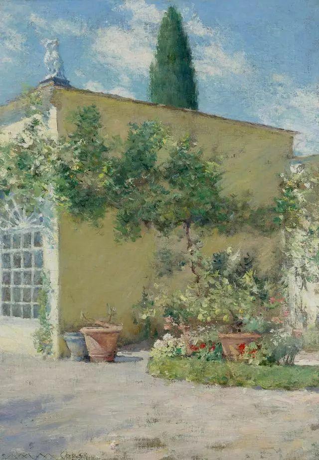 油画风景,美国画家William Merritt Chase插图49