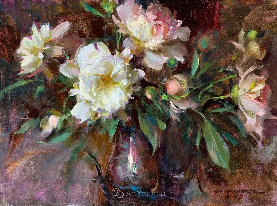很温暖的静物花卉,美国画家Daniel F.Gerhartz插图3