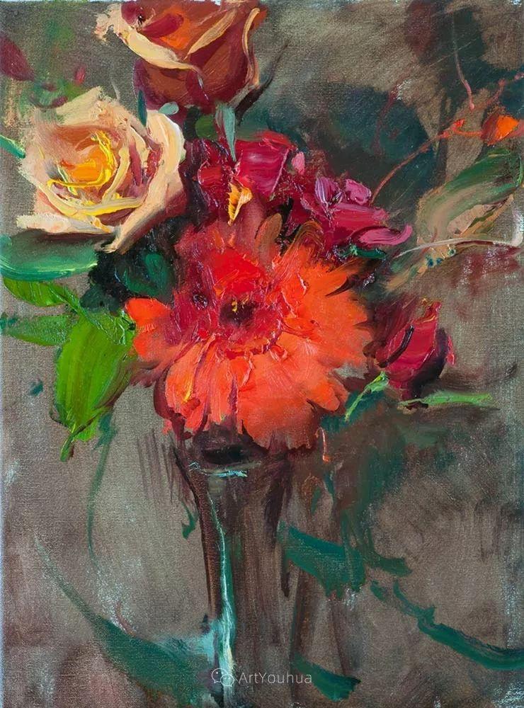 很温暖的静物花卉,美国画家Daniel F.Gerhartz插图5
