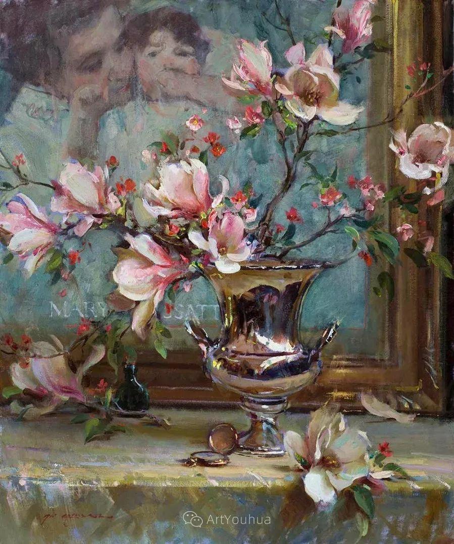 很温暖的静物花卉,美国画家Daniel F.Gerhartz插图6
